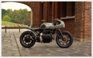 Fifty shades of grey caferacer bmw k100 flying brick custom motorcycle deep creek cycleworks